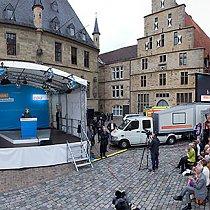 CDU-Wahlkampf mit Bundeskanzlerin Merkel