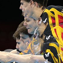 Olympische Spiele - Tischtennis - Dimitrij Ovtcharov (Mehrfachbelichtung)