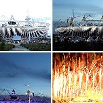 Olympische Spiele - Feuerwerk - Olympiastadion