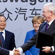 VW-Besuch von Merkel und Jiabao